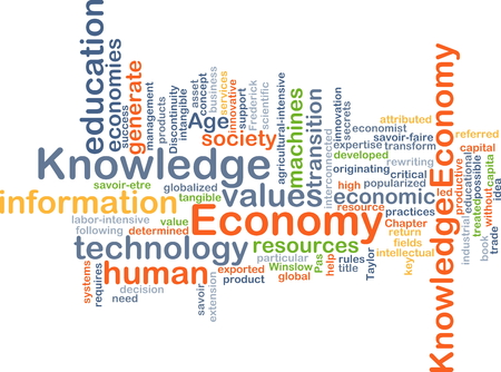 generates: Background concept wordcloud illustration of economy knowledge