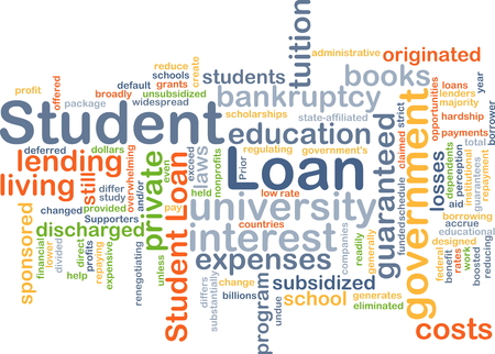 student loan: Background concept wordcloud illustration of student loan