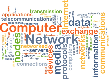 cloud computer: Background concept wordcloud illustration of computer network