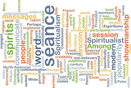 showmanship: Background concept wordcloud illustration of séance Stock Photo