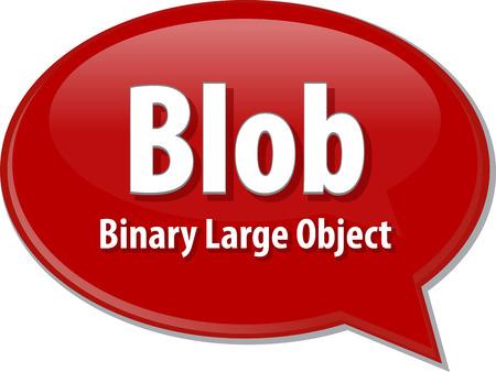 blob: Speech bubble illustration of information technology acronym abbreviation term definition  Blob Binary Large Object