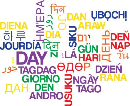 periods: Background concept wordcloud multilanguage international many language illustration of day Stock Photo