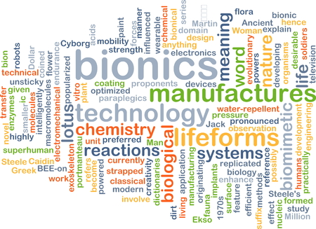 bionics: Background concept wordcloud illustration of bionics