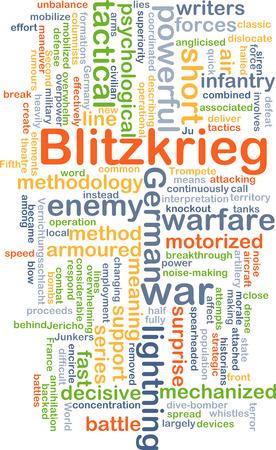 representations: Background concept wordcloud illustration of blitzkrieg