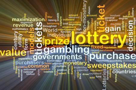 purchasers: Background concept wordcloud illustration of lottery glowing light