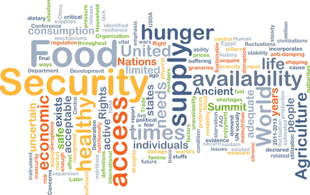 Background concept wordcloud illustration of food security Stok Fotoğraf - 41852391