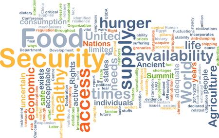 Wordcloud Hintergrund Konzept der Ernährungssicherheit Standard-Bild - 41852391
