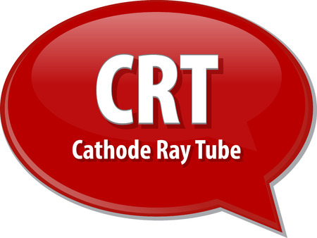 cathode: Speech bubble illustration of information technology acronym abbreviation term definition CRT Cathode Ray Tube