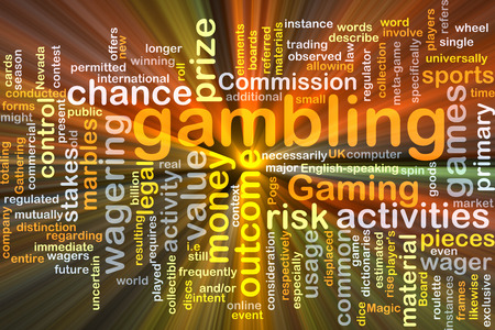 usage: Background concept wordcloud illustration of gambling glowing light