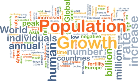 population growth: Background concept wordcloud illustration of population growth