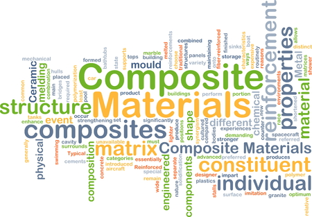 engineered: Background concept wordcloud illustration of composite materials Stock Photo