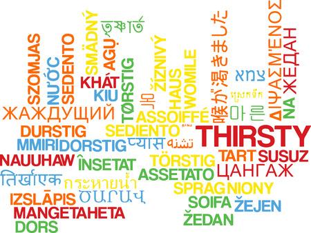 sediento: Concepto de fondo wordcloud ilustración muchos lengua internacional multilenguaje de sed