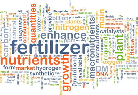 enzymes: Background concept wordcloud illustration of fertilizer