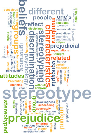 ignorance: Background concept wordcloud illustration of stereotype