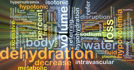 hypo: Background concept wordcloud illustration of dehydration glowing light