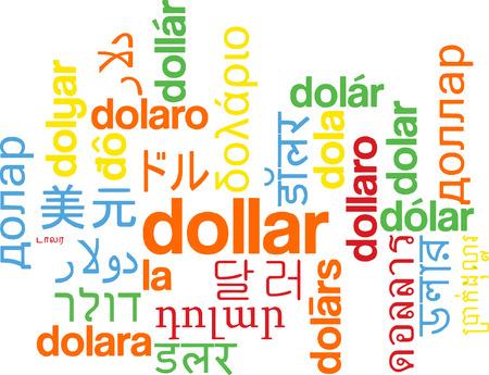 multilanguage: Background concept wordcloud multilanguage international many language illustration of dollar