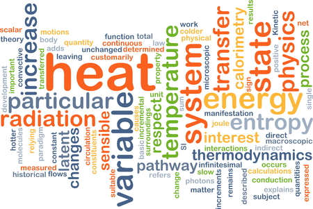 latent: Background concept wordcloud illustration of heat Stock Photo