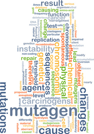 chromosomal: Background concept wordcloud illustration of mutagen