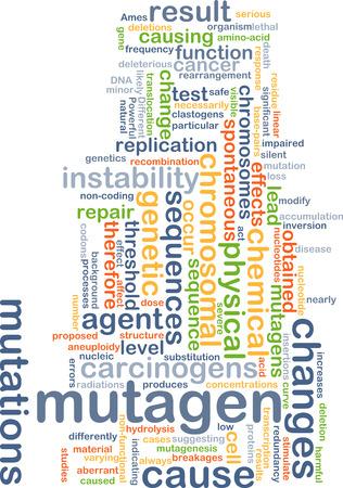 chromosomal: Background concept wordcloud illustration of mutagen
