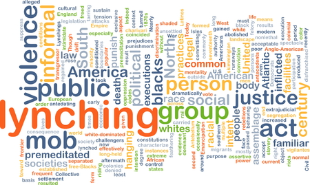 blacks: Background concept wordcloud illustration of lynching