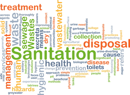 wastes: Background concept wordcloud illustration of sanitation Stock Photo