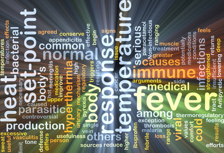 paracetamol: Background concept wordcloud illustration of fever glowing light