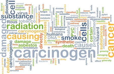 asbestos: Background concept wordcloud illustration of carcinogen