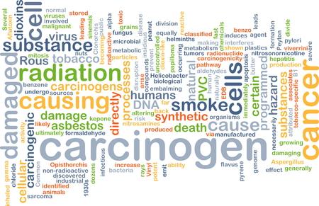carcinogen: Concepto de fondo wordcloud ilustraci�n de carcin�geno