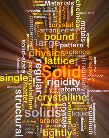 solids: Background concept wordcloud illustration of solid glowing light