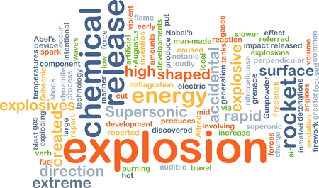 supersonic: Background concept wordcloud illustration of explosion Stock Photo