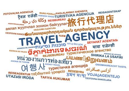 travel agency: Background concept wordcloud multilanguage international many language illustration of travel agency