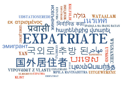 multilanguage: Background concept wordcloud multilanguage international many language illustration of expatriate