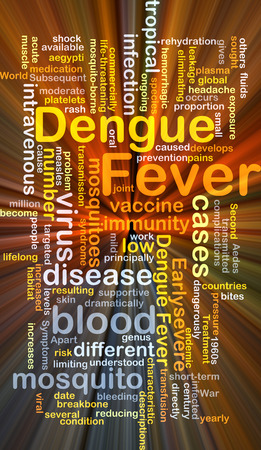 transmitted: Background concept wordcloud illustration of dengue fever glowing light