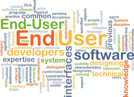 wordcloud: Background concept wordcloud illustration of end user