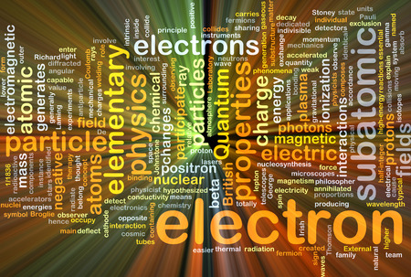 Background concept wordcloud illustration of electron glowing light