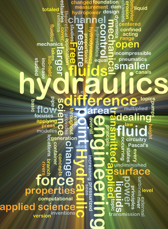 pressurized: Background concept wordcloud illustration of hydraulics glowing light