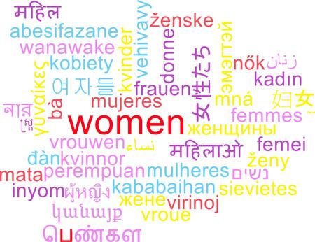 multilanguage: Background concept wordcloud multilanguage international many language illustration of women