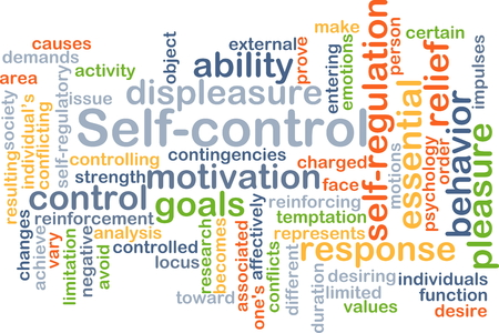 selfcontrol: Background concept wordcloud illustration of self-control