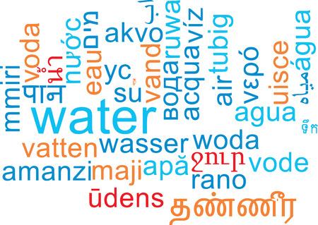 Background concept wordcloud multilanguage international many language illustration of water Stock Photo