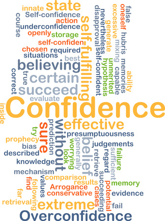 succeeding: Background concept wordcloud illustration of confidence Stock Photo