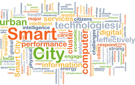 smart: Background concept wordcloud illustration of smart city