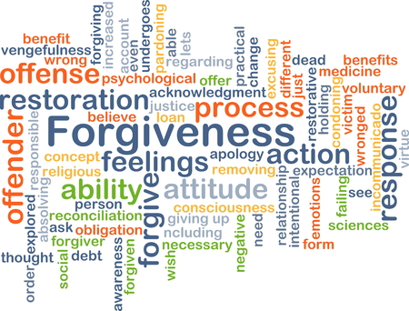 forgiveness: Background concept wordcloud illustration of forgiveness