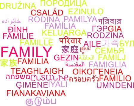 multilanguage: Background concept wordcloud multilanguage international many language illustration of family