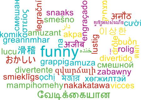 multilanguage: Background concept wordcloud multilanguage international many language illustration of funny Stock Photo
