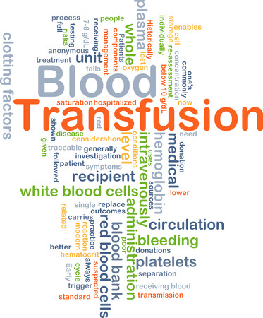 blood circulation: Background concept wordcloud illustration of blood transfusion