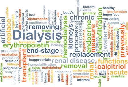 dialysis: Background concept wordcloud illustration of dialysis