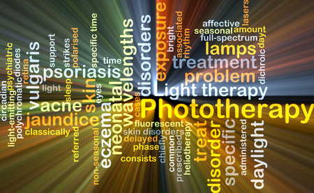 jaundice: Background concept wordcloud illustration of phototherapy glowing light