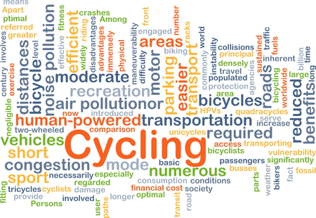 disadvantages: Background concept wordcloud illustration of cycling