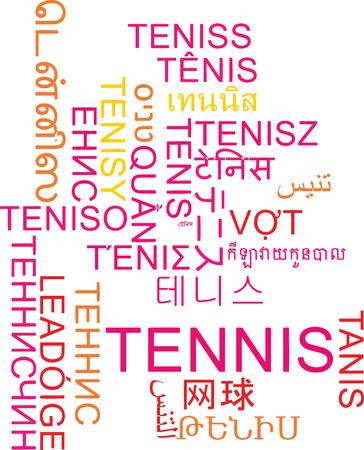 multilanguage: Background concept wordcloud multilanguage international many language illustration of tennis