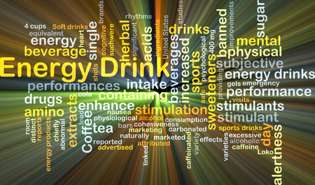 energy drink: Background concept wordcloud illustration of energy drink glowing light